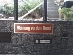Warning. Dog!